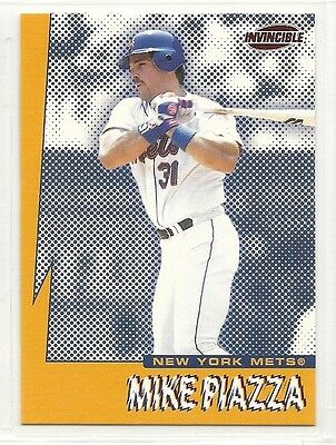1999 Pacific Invincible - Seismic Force - #10 - Mike Piazza - New York Mets