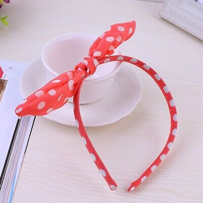 Women Bow Knot Hair Hoop Band Headband Girls Fashion Cute Polka Dots Accessories