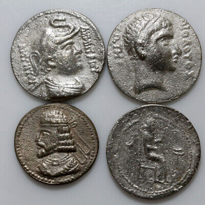 Lot Of Ancient Greek Indo Greek Silver Coins - Fourree Tetradrachms