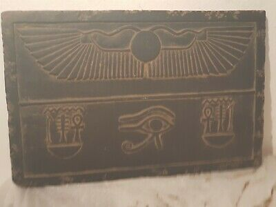 Rare Antique Ancient Egyptian stela magic words protection Amulet lif1820-1750BC