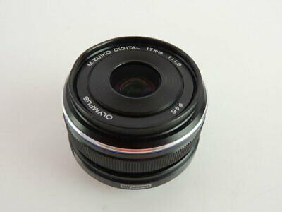 Olympus M.ZUIKO DIGITAL 17mm 1:1.8 Lens Black Photography Accessory Camera~~