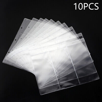 10x Banknotes Album Book Pages Paper Money Currency Collection Protect Storage