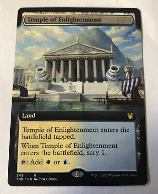 1x Temple of Enlightenment - x1 Extended Art Theros Beyond Death MTG Magic