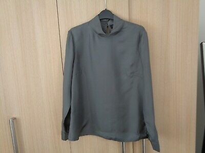 Amazing Ladies Smart/Professional Style Top by Ted Baker - Sz 4 - Grey - BNWT
