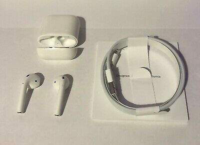 Genuine Apple AirPods 2nd Generation with Charging Case - White UK