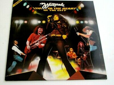 Whitesnake LIVE IN THE HEART OF THE CITY Signed Moody / Marsden UNPLAYED MINT
