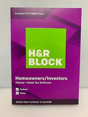 H&R BLOCK Tax Software Deluxe + State 2019