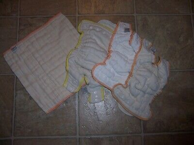 Cloth Eez Workhorse  fitted snaps cloth diapers 2 newborn 1 small 1 prefold box5