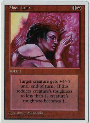 4 Blood Lust ~ Red Fourth 4th Edition Mtg Magic Common 4x x4