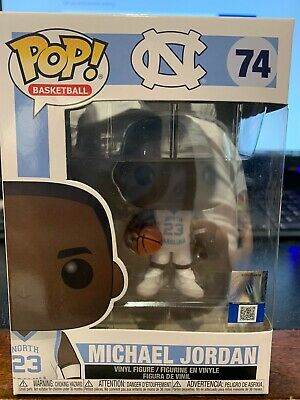 Funko Pop Basketball #74 Michael Jordan UNC North Carolina In Hand
