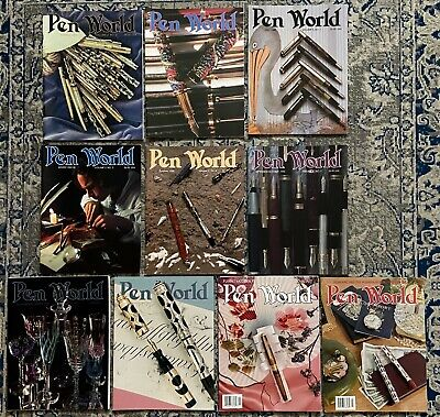 Lot 10 Pen World Magazines 1989~1991