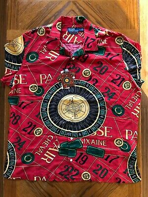 Polo Ralph Lauren Casino Collection RED Shirt Limited Edition XL XXL Vintage NR!