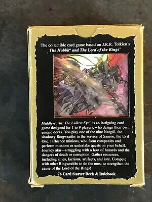 MIDDLE EARTH CCG THE LIDLESS EYE SEALED UVATHA STARTER DECK OF 76 CARDS