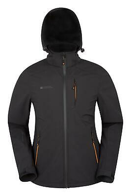 Mountain Warehouse Helix Mens Softshell Jacket - Water-resistant in Black