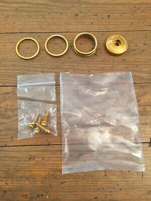 Wolf Tooth Componentes Blingkit Auriculares Tapa y 3 , 5,10mm Spacer Juego Oro