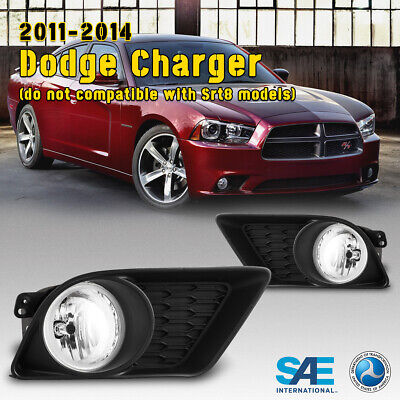 AUTOFREE Fog Lights for 11-14 Dodge Charger Clear Lens do not compatible with Srt8 models with Bulbs H10 12V55W Fog Lamps Assembly Wiring Kit /& Switch Included- 1 Pair