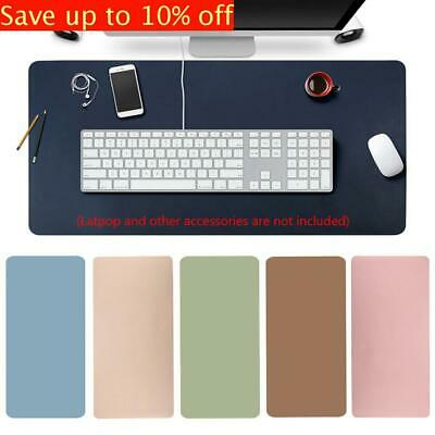 Large Leather Modern Computer Desk Mat Keyboard Mouse Pad Laptop Cushion