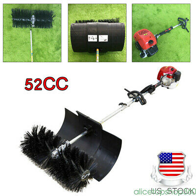 52CC Gas Power Sweeper 2Stroke Wide Hand Held Sweeper BROOM CLEANING  USED