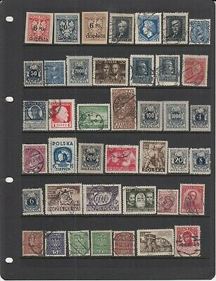 Poland large lot of old mint or used stamps