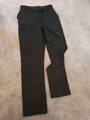 Boys M&S Charcoal School Trousers slim fit Age 16-17