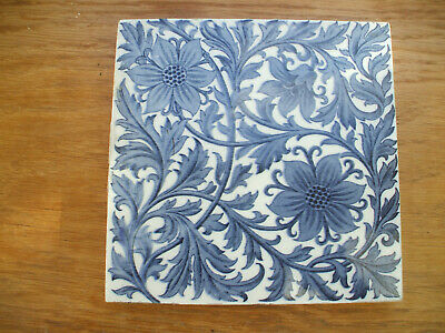 ORIGINAL MINTONS CHINA WORKS TILE BLUE & WHITE ARTS & CRAFTS WITH Rd.No. 208913