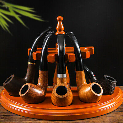 5 Pipes Smoking Accessories Rose Wooden Smoking Pipe Stand Tobacco Pipes Holder