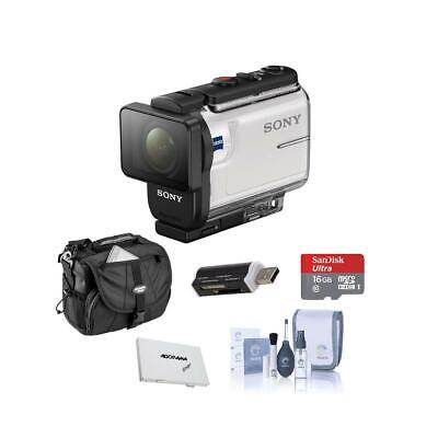 Sony HDR-AS300 Action Camera, Balanced Optical SteadyShot, With Free Acc Bundle