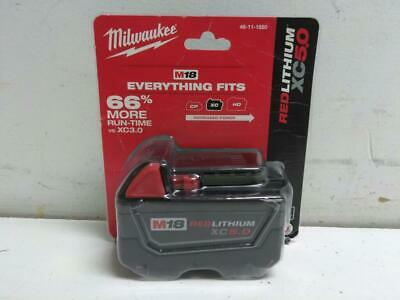 Milwaukee 48-11-1850 18v Red Lithium XC 5.0 Battery Pack - NEW!