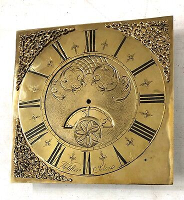 Antique LONGCASE GRANDFATHER CLOCK Brass Dial : WEBSTER SALOP