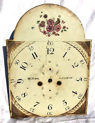Antique LONGCASE GRANDFATHER CLOCK Dial & 8 Day Movement W. WAIN ALFERTON