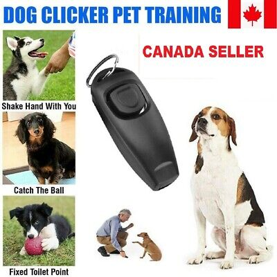 New Dog Pet Puppy Cat Training Clicker & Whistle Click Trainer Obedience Tool CA