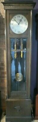 grandfather clock weight driven with  gongs lfs movement