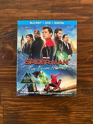 Spider-Man: Far From Home (Blu-ray + DVD w/slipcover (No Digital) Like New