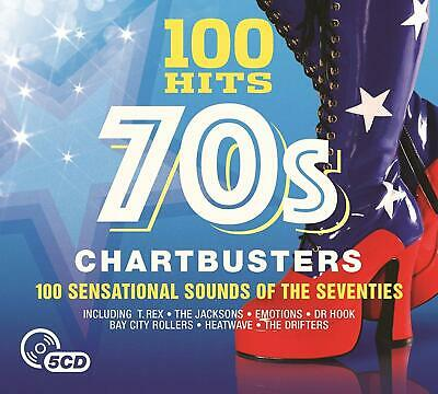 100 Hits 70s Chartbusters 5-CD NEW SEALED T.Rex/Dawn/Sweet/Dr Hook/Glitter Band+