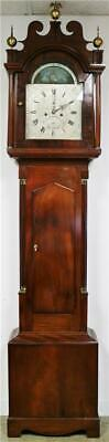 Antique 18thC English 8 Day Mahogany Ships Automation Grandfather Longcase Clock