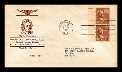 Dr Jim Stamps Us Electric Eye Issue Martha Washington On Cover Pair