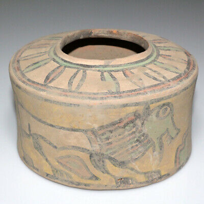 Huge-Scarce-Intact Indus Valley Terracotta Pot 1900-1000 Bc-Repaint