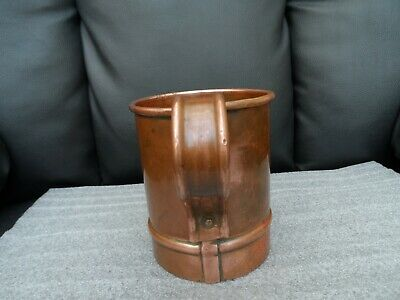 Arts and Craft primitive hand forged  style solid copper tankard stamp marks