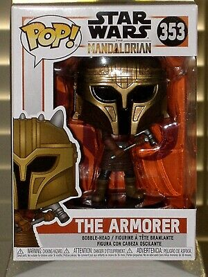 Funko Pop!Star Wars:The Mandalorian THE ARMORER Collectible Vinyl Figure + Prote