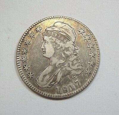 1817 Capped Bust/Lettered Edge Half Dollar EXTRA FINE Silver 50-Cents