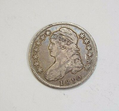 1810 Capped Bust/Lettered Edge Half Dollar VF (VERY FINE) Silver 50c