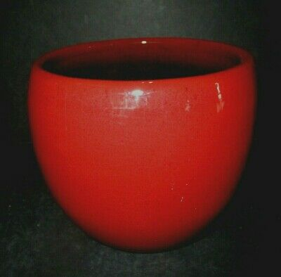 Vintage West Germany Mid Century Modern Red Ware Redware Pottery Decor Bowls Ex