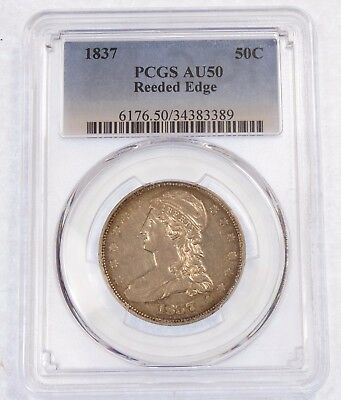 1837 Capped Bust/Reeded Edge Half Dollar PCGS AU 50 Silver 50-Cents