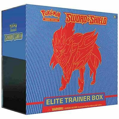 Pokemon TCG Sword And Shield Elite Trainer Zamazenta Box 8 Booster Packs &