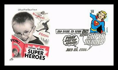 Dr Jim Stamps Us Super Girl Dc Super Heroes First Day Of Issue Cover