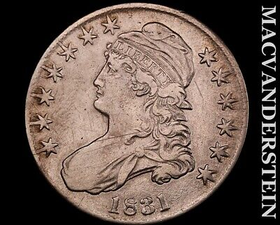 1831 Capped Bust Half Dollar-Very Fine++ Scarce Better Date #O3415