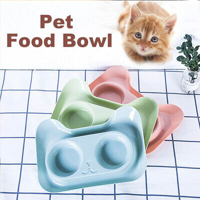 Double-Bowl Stainless Steel Pet Bowl Dog Cat Food Water Feeder Pet Dish Diner