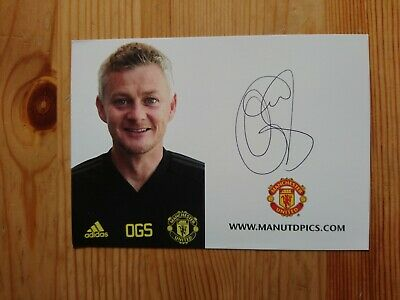 Ole Gunnar Solksjaer Hand Signed Autographed Official Manchester United Promo