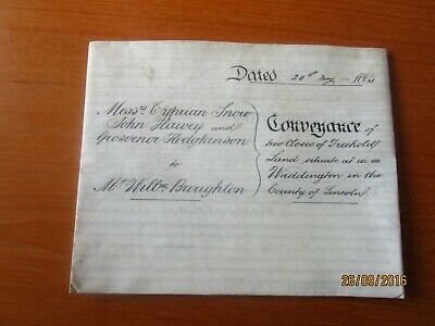 1863 Land In Waddington Lincolnshire Conveyance Indenture To William Broughton