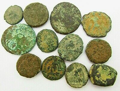 Lot of Byzantine & Roman Bronze Coins for Research c. 100 - 500 AD (327)